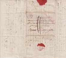 FRANCE : MARQUE POSTALE  . N° 21 . ARMEE D'ALLEMAGNE EN ROUGE . DATEE DE VIENNE . POUR L'ARMEE D'ESPAGNE . 1809 . - Marcofilia (sobres)