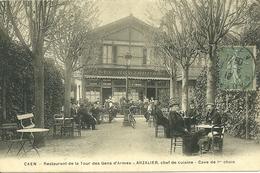 CAEN - Restaurant De La Tour Des Gens D' Armes - ARZALIER, Chef De Cuisine - Cave De 1°choix - Caen