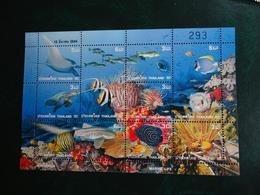 Planche Timbre X 9 - Thaïlande Marine Life - Vie Sous Marine - Thaïlande