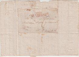FRANCE : MARQUE POSTALE  . N° 19 . ARMEE FRANCAISE EN ESPAGNE EN ROUGE . DATEE DE FREGENAL . POUR SAINTES . 1811 . - Marcofilia (sobres)