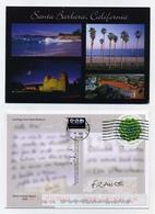 CP Voyagée En 2018. Avec Correspondance écrite. Timbre Oblitéré. Santa Barbara, California. Voir Recto Et Verso - Santa Barbara