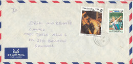 Gambia Air Mail Cover Sent To Denmark 1992 - Gambia (1965-...)