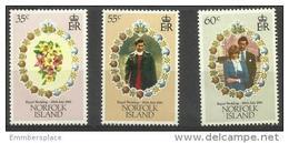 Norfolk Island - 1981 Royal Wedding (Charles & Diana) MNH  **   SG 262-4  Sc 280-2 - Norfolk Island