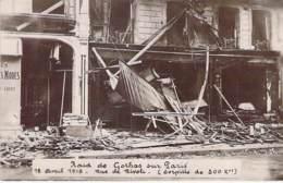 * Carte Photo * EVENEMENT Catastrophe Militaria PARIS 18/04/1919 Raid De GOTHAS (Torpille 300 Kg) Rue De Rivoli CPA 2/2 - Catastrophes