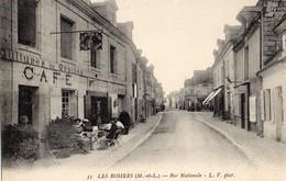 Les Rosiers   49   La Rue Nationale -Terrasse Animée-du Cafe Du Cheval-Blanc Et Epicerie En Face Café - France
