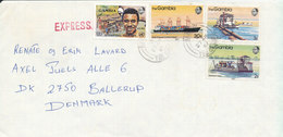 Gambia Cover Sent Express To Denmark 27-4-1987 - Gambia (1965-...)