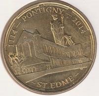 MONNAIE DE PARIS 89 PONTIGNY Maison De La Mission De France-Pontigny - St Edme - 1114 - 2014 - Monnaie De Paris