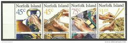 Norfolk Island - 1999 Handcrafts Strip MNH **   SG 708-11   Sc 687 - Norfolk Island