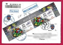 Moldavie / Moldavia (2019) - Tableau Périodique Mendéléev Periodic Table, Rubik's Cube. IYPT. Registered Letter. - Química