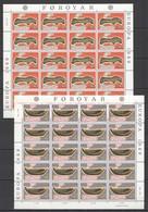 L1094 1989 FAROE ISLANDS EUROPA CEPT ART SHIPS CANOE 2SH MNH - Europa-CEPT