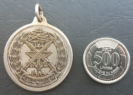 Lebanon 1989 Historical & Beautiful General Aoun Movement Metallic Medal - Otros