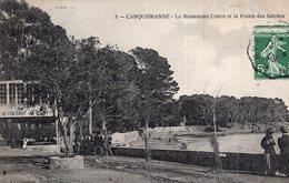 S2213 Cpa 83 Carqueiranne - Le Restaurant Coirol Et La Pointe Des Salettes - Carqueiranne