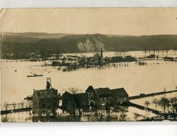 BELGIQUE / BELGIE - Lovegnée Ben Ahin : CP-Photo - Inondations De La Meuse  1920 - Panorama De Ben - Huy