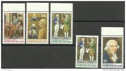 Norfolk Island - 1986 Governor Phillip MNH  **   SG 396-400  Sc 392-6 - Norfolk Island
