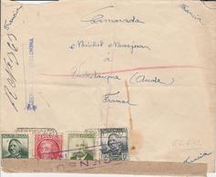 1938 LR De TABERNAS DE VALDIGNA à VILLEDAIGNE   EL642 - 1931-Hoy: 2ª República - ... Juan Carlos I