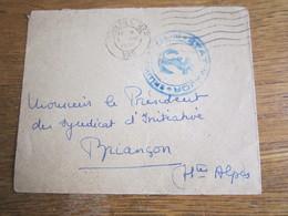 1406   ENVELOPPE DE TOULON AVEX CACHET  DE LA MARINE - Franchise Militaire (timbres)