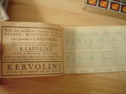 Erinnophilie  Carnet Anti Tuberculeux   De La Lumiere Pub Kervoline Hotchkiss Gibbs Heudebert - Erinnophilie