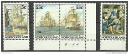 Norfolk Island - 1987 Colonization - First Fleet MNH  **   SG 421-4  Sc 417-20 - Norfolk Island