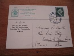 1941 Pro Juventute   Helvetia Journee Timbre Zurich - Maximum Cards