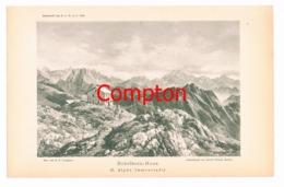 102 E.T.Compton Nebelhornhaus Berge Lichtdruck 1894 !! - Prints