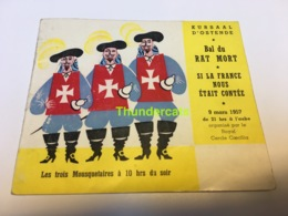 OOSTENDE OSTENDE BAL DU RAT MORT KURSAAL 1957 PROGRAMME PROGRAMMA EROTIC EROTIQUE - Programs