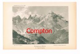 103 E.T.Compton Kemptner Hütte Berge Lichtdruck 1894 !! - Prints