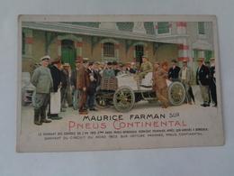 Maurice Farman Sur Pneus Continental - Cartes Postales