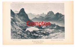 104 E.T.Compton Rappenseehütte Berge Lichtdruck 1894 !! - Prints