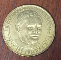 75 FRANCE NOTRE-DAME DE PARIS PAPE BENOIT XVI MÉDAILLE ARTHUS BERTRAND JETON MEDALS TOKENS COINS - 2008
