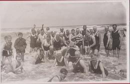 Mooie Oude Foto 1920's De Panne La Strand La Plage (In Zeer Goede Staat) - De Panne