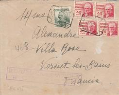 1938 LR De BARCELONA  à VERNET LES BAINS   Dates à Voir  EL645 - 1931-50 Cartas