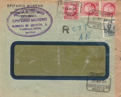 1937 LR De MADRID   à  ST CLOUD   CENSURA MADRID    EL648 - 1931-50 Cartas