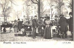 Carte Postale Ancienne De BRUXELLES - Le Vieux Marché - Mercati
