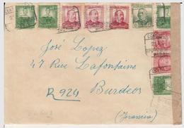 1937 LR De MADRID   à  BORDEAUX   CENSURA MADRID    EL649 - 1931-50 Cartas