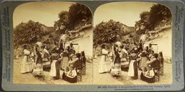 N° (94)2221 Photos Stéréoscopiques - Passe-Temps Des Bohémiens Habitants Des Cavernes Prés De Grenade ,Espagne - TBE - Stereoscopio