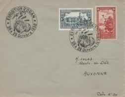 Souvenir Philatélique De La Foire Agricole D'Oran Des 28 Et 29 Octobre 1950, Citrons, Blé, Olives - Landwirtschaft
