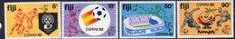 Fiji 1982 World Cup Football Set Of 4, Hinged Mint, SG 636/9 (BP2) - Fiji (1970-...)
