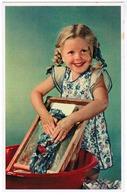 Portrait Of Little Girl Washing Clothes, Village D'enfants De France, Ed. Superluxe Paris (pk59684) - Portraits