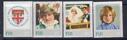 Fiji 1982 Princess Diana Set Of 4, Hinged Mint, SG 640/3 (BP2) - Fiji (1970-...)