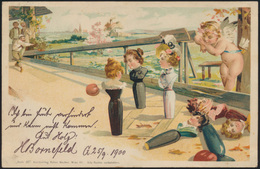 Ansichtskarte Litho Sport Kegeln Gevelsberg 1900 - Postcards