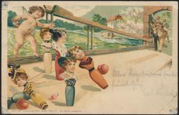 Ansichtskarte Litho Sport Kegeln Von Dresden Nach Nach Gevelsberg 1901 - Postkaarten