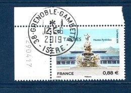 France 2019.Tarbes.cachet Rond Gomme D'origine. - Frankreich