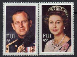 Fiji 1982 Royal Visit Set Of 2, Hinged Mint, SG 644/5 (BP2) - Fiji (1970-...)