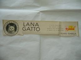 PUBBLICITà ADVERTISING FILATURA DI TOLLEGNO LANA GATTO. - Pubblicitari