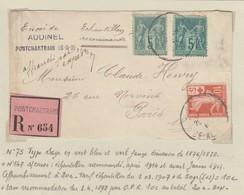 FRANCE - LETTRE RECOMMANDÉE PONTCHARTRAIN / 1 - Postmark Collection (Covers)