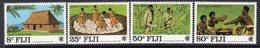 Fiji 1983 Commonwealth Day Set Of 4, MNH, SG 655/8 (BP2) - Fiji (1970-...)