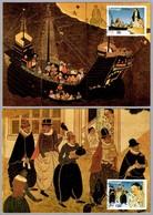 450 Años LLEGADA DE LOS PORTUGUESES A JAPON - 450 Years Portuguese Arrival In Japan. Set 2 TM. Lisboa 1992 - Otros