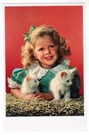 Portrait Of Little Girl With Kittens, Kitten, Cat, Cats, Village D'enfants De France, Ed. Superluxe Paris (pk59685) - Portraits