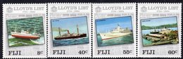 Fiji 1984 250th Anniversary Of Lloyd's List Set Of 4, MNH, SG 675/8 (BP2) - Fiji (1970-...)