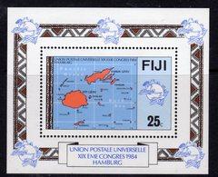 Fiji 1984 UPU Congress Map MS, MNH, SG 679 (BP2) - Fiji (1970-...)